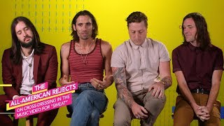 """All-American Rejects on Cross Dressing for """"Sweat"""" Video"""