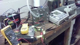 Hydrogen cell powered by high voltage DC