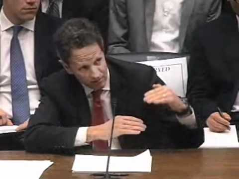 Mel Watt and Timothy Geithner at March 1 Committee Hearing