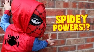 Spider-Man Powers!? Spider-Man Homecoming Movie Gear Test for Kids Pt. 2 | KIDCITY