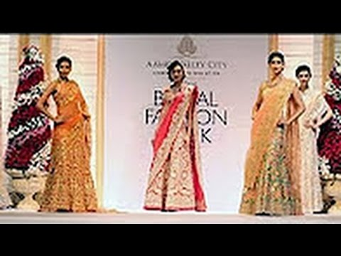 Celebrity Models Show Case The Exquisite Gown Collections at India Bridal Fashion Week 2013 Part 248