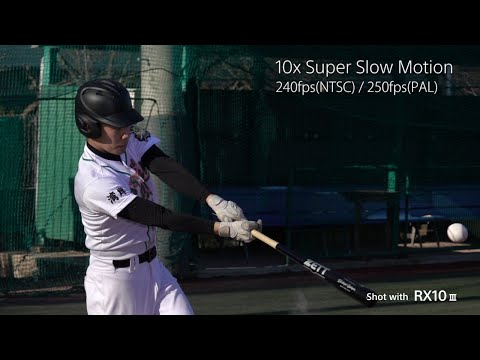 "RX10 III - Super Slow Motion with super telephoto- ""Baseball"" 