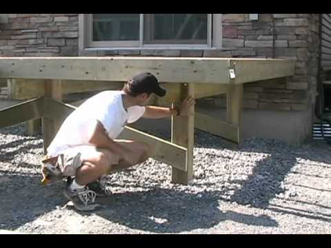 Building A Free Standing Deck Notching 6x6 Support Posts
