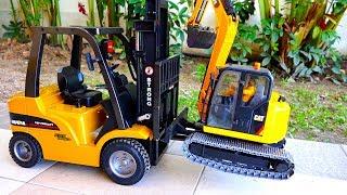 Car Toy Video for Kids Excavator Forklift Truck Vehicles for children