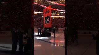 Ed Snider Banner raising  Philladelphia Flyers Oct 20, 2016