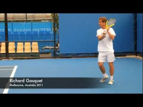 Richard Gasquet - Slow Motion Top Spin Backhands in HD