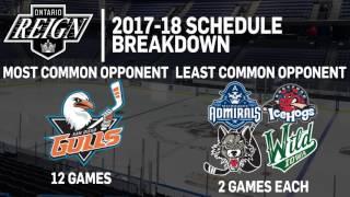 Ontario Reign - 2017-18 Schedule Breakdown