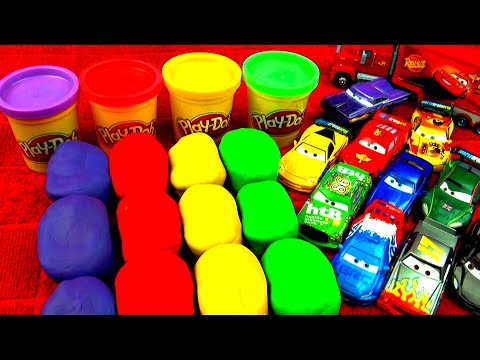 Play-Doh Surprise Eggs Cars 2 Peppa Pig Super Mario Disney Princess Toy Story Angry Birds FluffyJet
