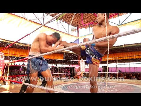 Lethwei Burmese Boxing [HD] - Fight Tournament near Eindu (1) - Kayin State Myanmar - Thingyan 2013 Image 1
