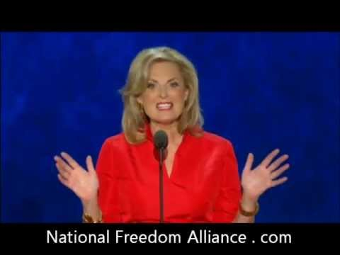 Ann Romney speaking at the Republican National Convention on August 28, 2012 Tampa, FL