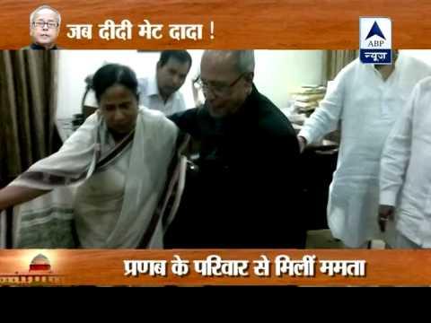 Mamata Banerjee meets Pranab Mukherjee, congratulates him 