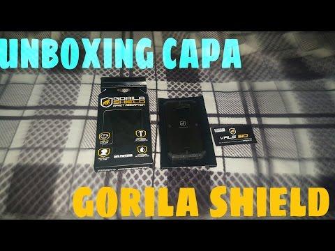 capa gorila shield - unboxing#