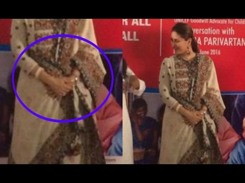 Kareena Kapoor Hides Her Baby Bump On Stage At UNICEF Event