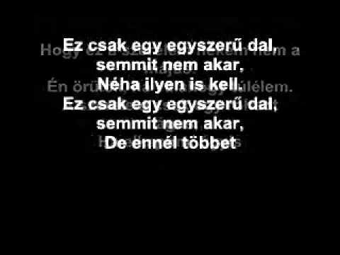 Tankcsapda - Egyszerű dal with lyrics