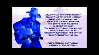 Watch Gary Allan Cryin For Nothin video