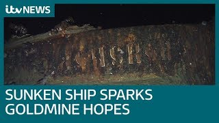 Could this newly discovered shipwreck contain 200 tonnes of gold? | ITV News