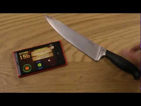 Lumia 920 Knife Fruit Ninja Gameplay