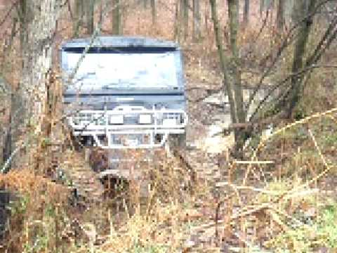 Polaris Ranger with mattracks going thru ditch part 2