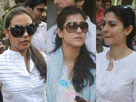 Rani Mukherjee, Kajol, Tanisha Attend Joy Mukherjee's Funeral video