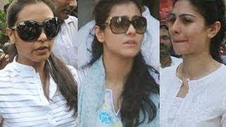 Rani Mukherjee, Kajol, Tanisha attend Joy Mukherjee's FUNERAL
