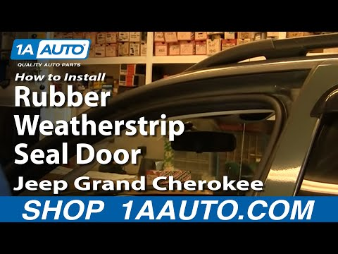 How To Install Replace Rubber Weatherstrip Seal Door Jeep Grand Cherokee 99-04 1
