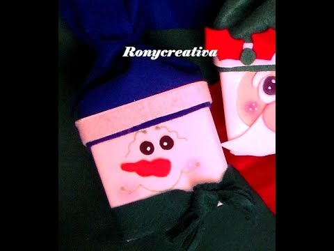 CAJITA - DULCERO DE MUÑECO DE NIEVE / HOW TO MAKE A SNOWMAN BOX DIY