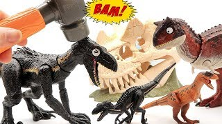 Dinosaur Transformer Big & Small Dinosaurs! Magic Hammer Fun Video For Kids~  Dinosaur Eggs Toys