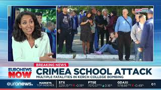 Euronews Now: At least 18 dead after attack on technical college in Crimea