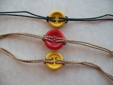 Tutorial braccialetti corda e bottoni