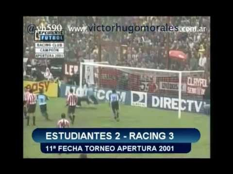 Segunda parte de un especial con los relatos de Víctor Hugo de los goles de Racing Club en el Torneo Apertura 2001.