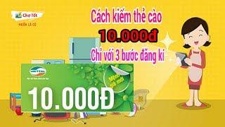 Cách kiếm thẻ cào 10.000đ với chợ tốt chỉ vài phút  - Kiếm tiền hay trên điện thoại