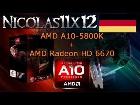 [DEUTSCH] AMD A10-5800K APU in Dual Graphics mit der AMD Radeon HD 6670 Testbericht
