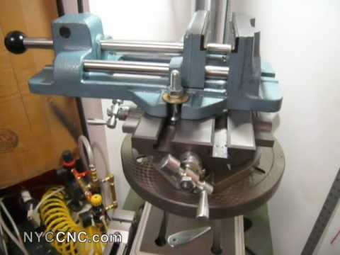 Drill Press + XY Table + Wilton Cam-Lock Vise in hone machine shop