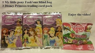 My little pony Fash'ems blind bag Disney Princess Trading card game opening Rarity MLP FiM