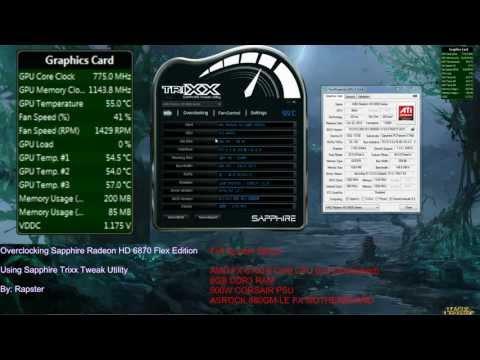 Overclocking Sapphire Radeon HD 6870 Flex Edition