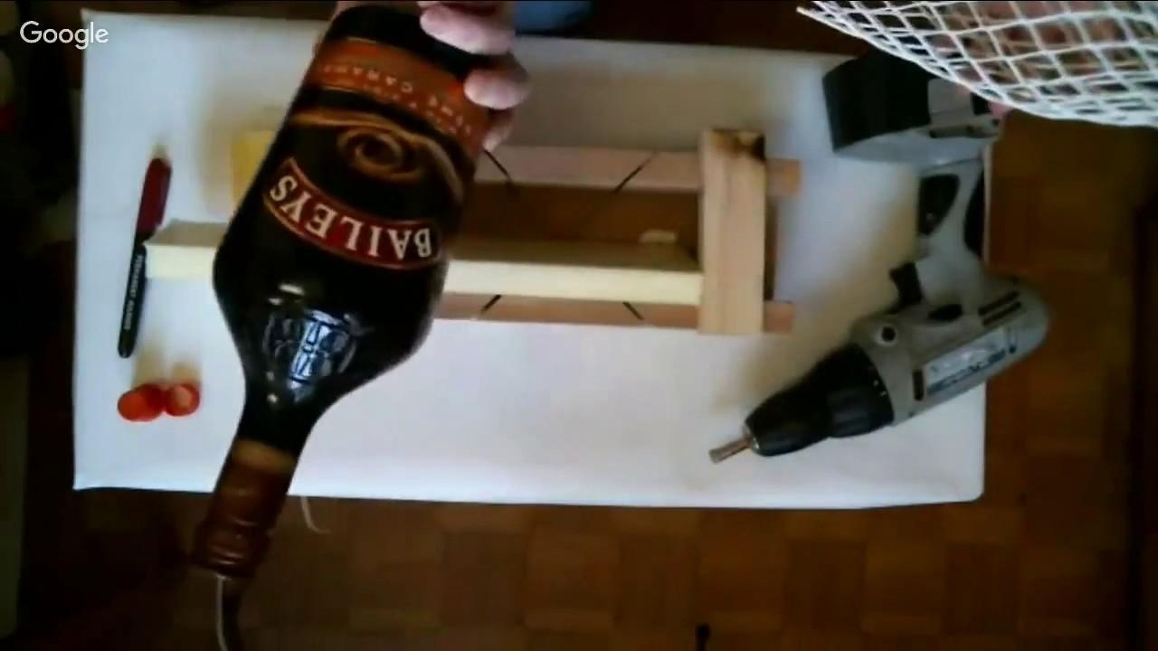 Как сделать дырку из стеклянной бутылки 786
