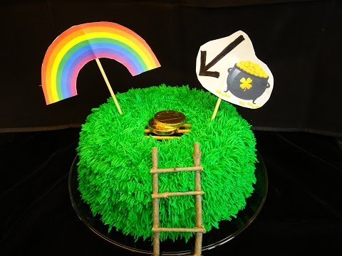 How to Make Leprechaun Trap Cake for St Patrick's day leprechaun hunt via gk-howto-videos.blogspot.com Green St Patricks day recipes