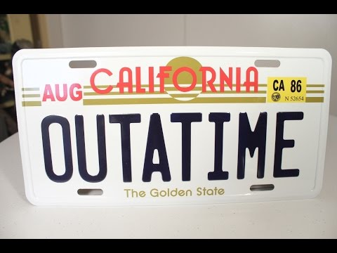 BACK TO THE FUTURE License Plate Replica review