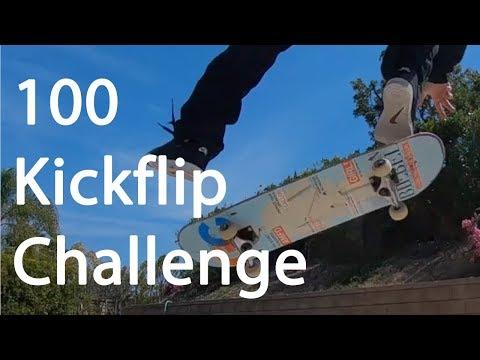 Mikemo 100 Flatground Challenge: Kickflips