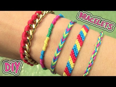DIY Friendship Bracelets. 5 Easy DIY Bracelet Projects!