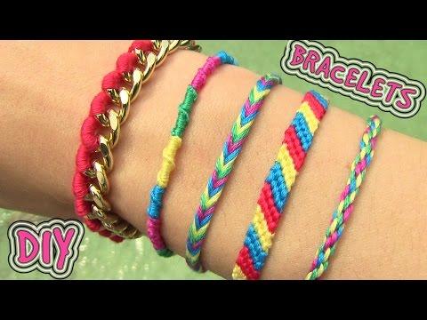 DIY Friendship Bracelets. 5 Easy DIY Bracelet Projects!