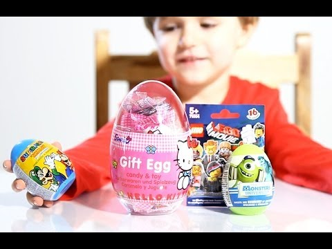 Big Hello Kitty Gift Egg - The Lego Movie Surprise Bag- Super Mario - Monsters University!
