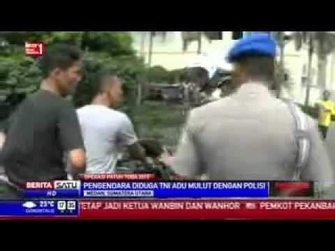 HEBOH !! VIDEO Kopral TNI Menolak Dirazia Polantas, ADU MULUT