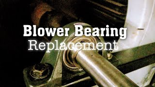 HVAC - Pillow Block Blower Bearing Replacement On A Liebert