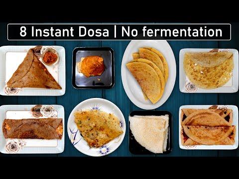 8 Instant Dosa recipes | Dosa recipe in tamil | Dosa varieties in tamil | Variety dosa in tamil thumbnail