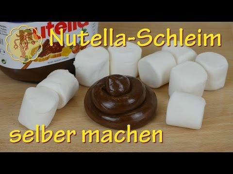 Essbaren Nutella-Schleim selber machen - nur 2 Zutaten - ohne Kleber
