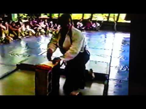 Tamashi Wari Demonstration Renbrook School July 1992