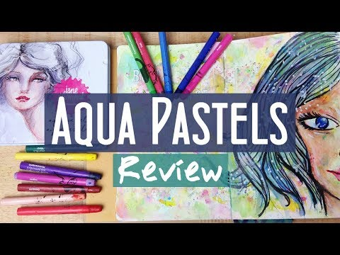 Review and Demo of the Aqua Pastels from Jane Davenport Mixed Media
