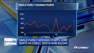 Single family housing starts jump despite an overall drop in home building