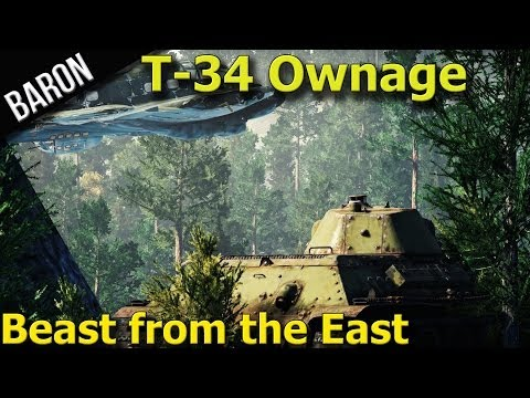 War Thunder Tanks - T-34 is a Beast - Ground Forces Gameplay